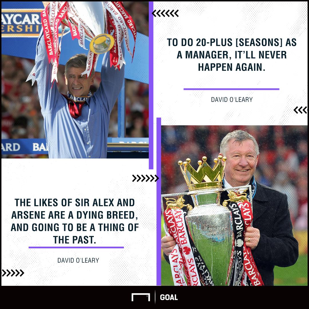 Arsene Wenger Alex Ferguson dying breed David O'Leary