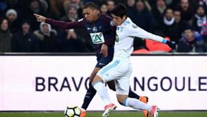 Kylian Mbappe Hiroki Sakai PSG Marseille Coupe de France 28022018.jpg
