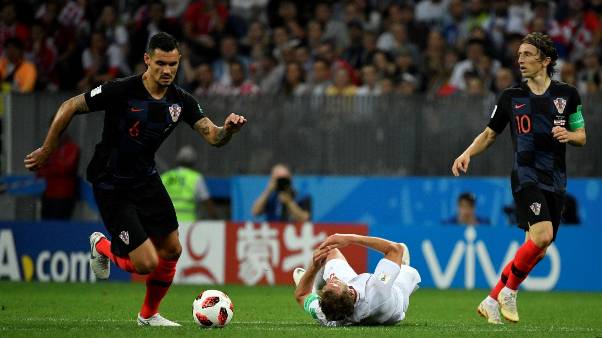 croatia england - dejan lovren luka modric - world cup - 11072018