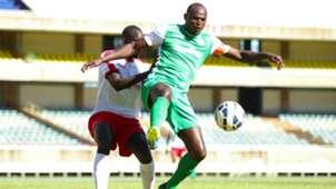 Gibert Osonga of Posta Rangers v Dennis Oliech of Gor Mahia.