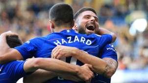 Eden Hazard Olivier Giroud Chelsea 2018-19