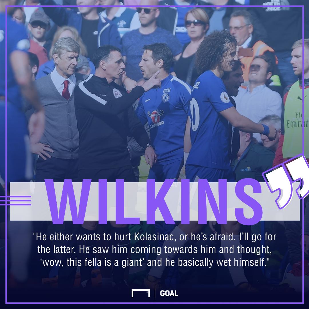 Ray Wilkins David Luiz Chelsea red card wet himself