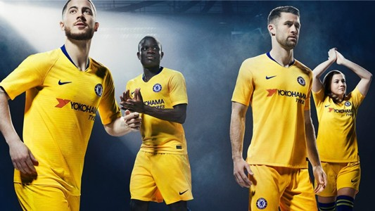 CHELSEA  YELLOW AWAY KIT