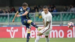 Ivan Radovanovic Leandro Paredes Chievo Roma Serie A