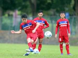 Latihan Timnas Vietnam U-22