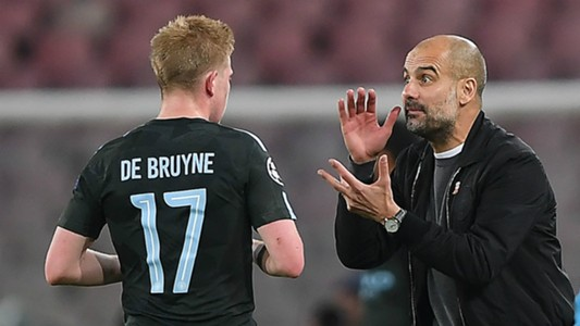 Kevin De Bruyne Pep Guardiola Manchester City