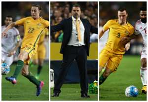 Jackson Irvine Ange Postecoglou Brad Smith Australia v United Arab Emirates World Cup qualifying 28032017