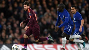 Messi Pedro Kante Chelsea Barcelona Champions League