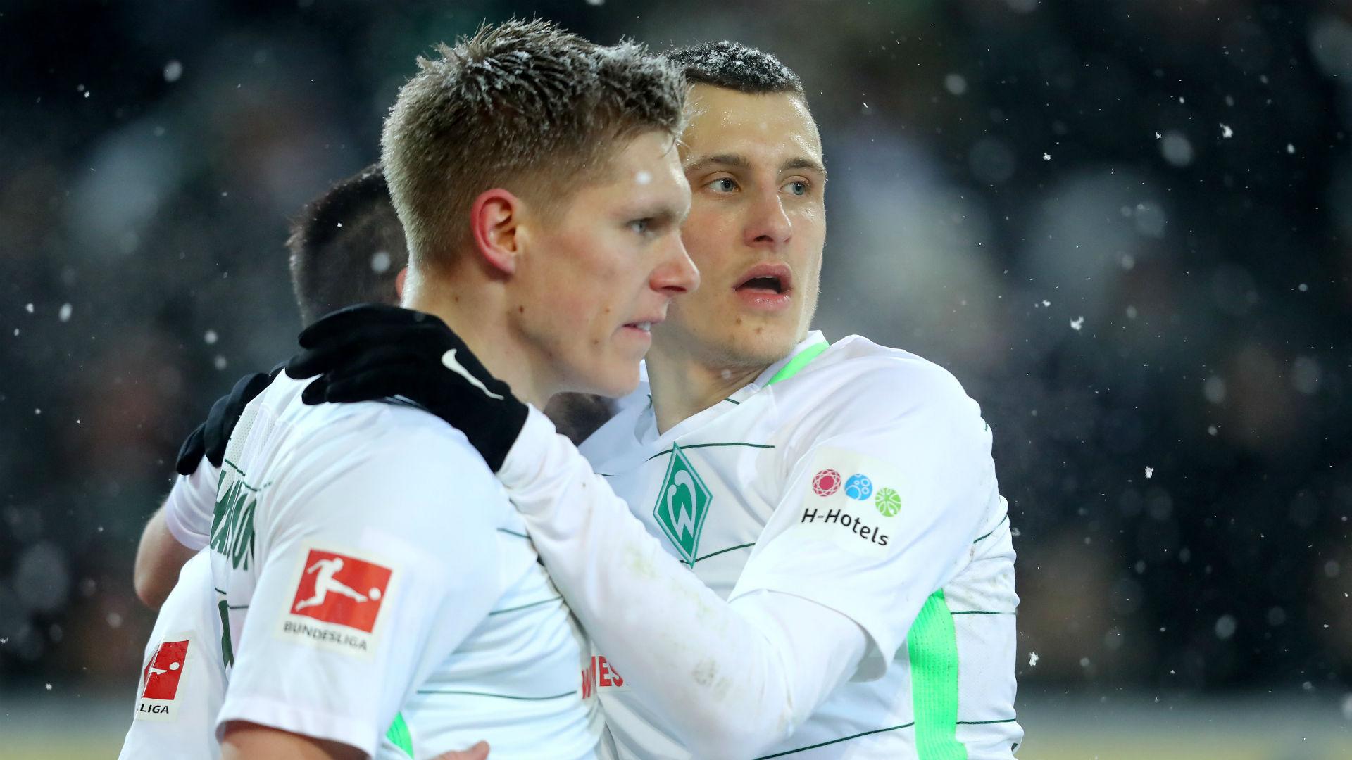 Aron Johannsson Sebastian Langkamp Werder Bremen