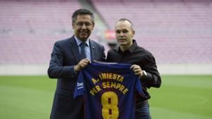 Andrés Iniesta Bartomeu Barcelona