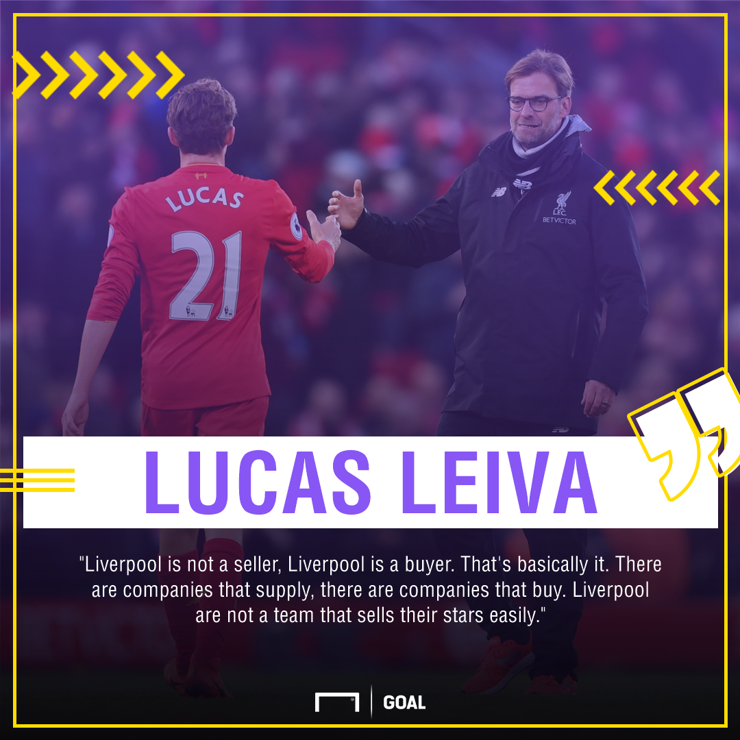 Lucas Leiva Liverpool buyer not seller