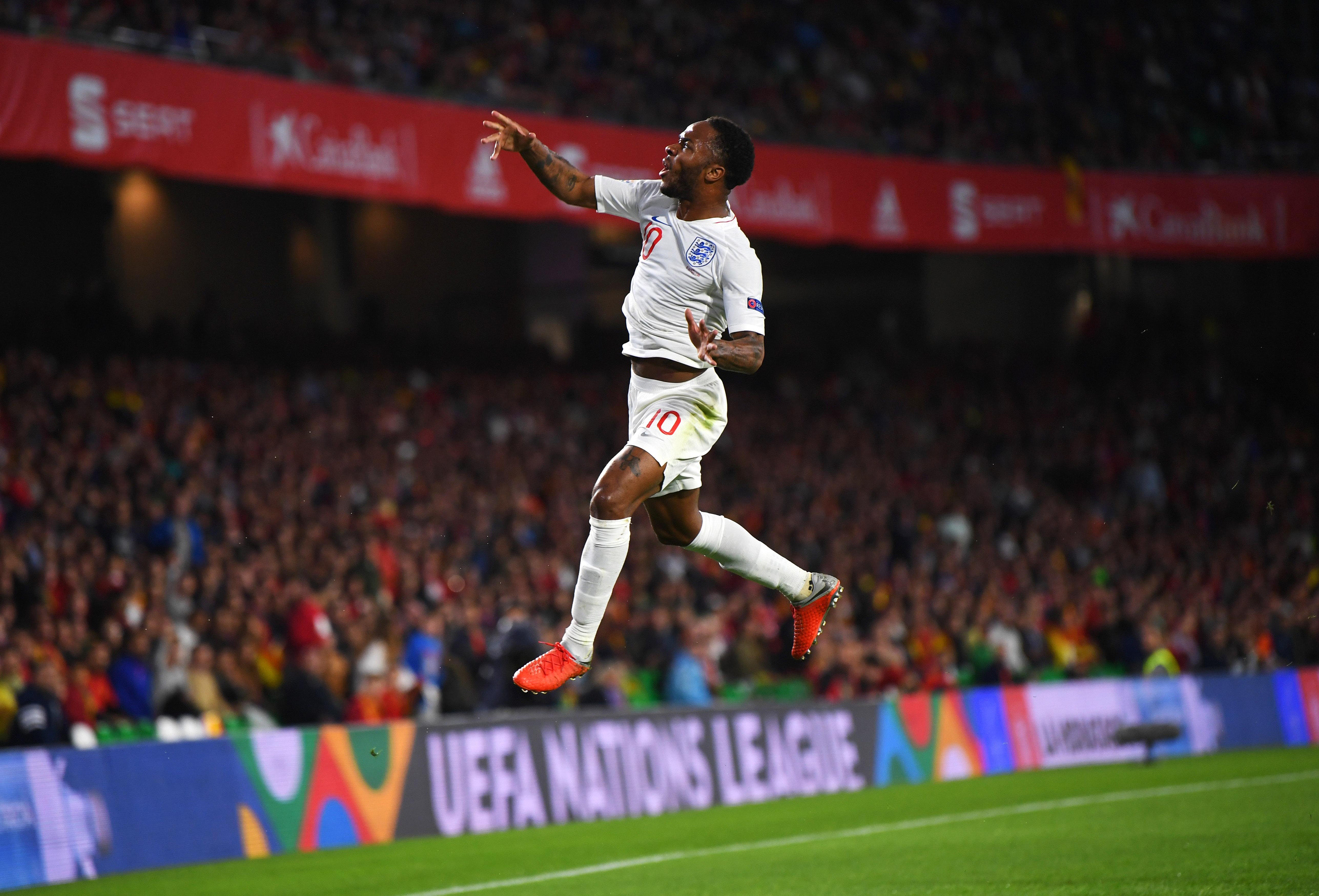 STERLING ESPAÑA INGLATERRA UEFA NATIONS LEAGUE