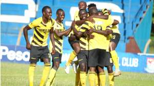 Chemelil Sugar players celebrate.