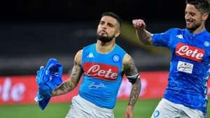 Insigne celebrating Napoli Cagliari Serie A
