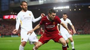 James Milner Daniele De Rossi Liverpool Roma