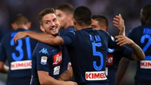 Napoli celebrates against Lazio