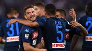 Napoli celebrates against Lazio