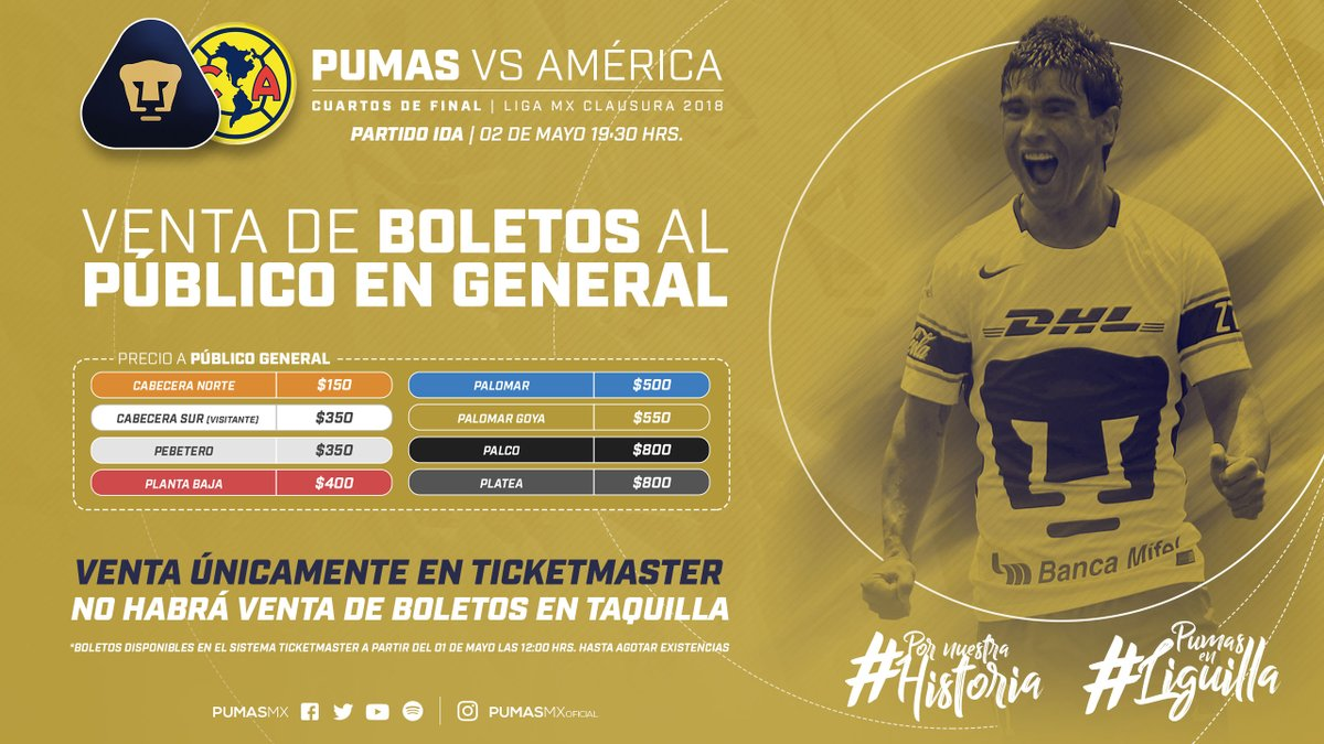 07b5f94f3 Cuánto cuestan y dónde venden boletos para Pumas vs América? pumas