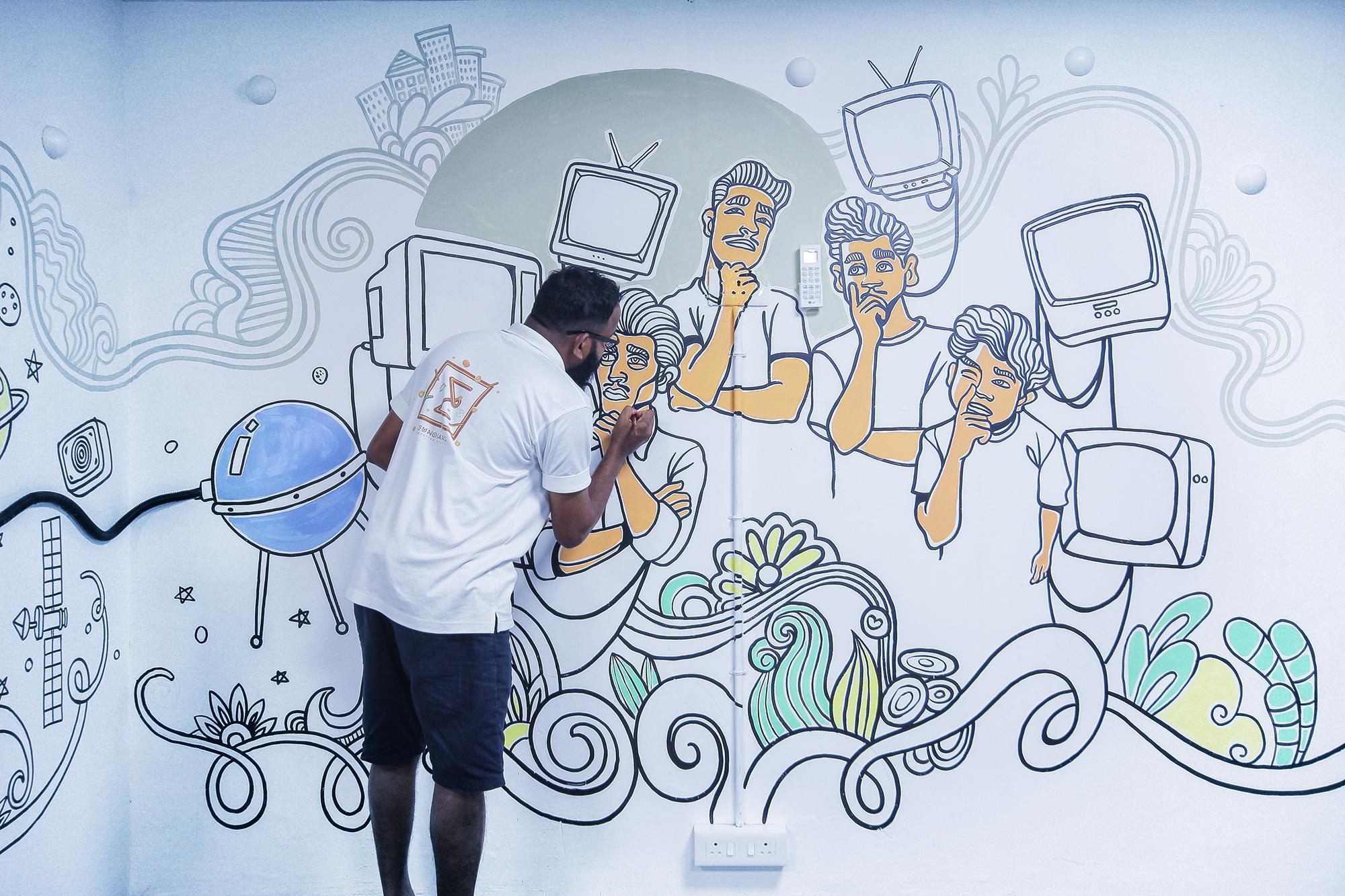 U17 World Cup Kochi wall art