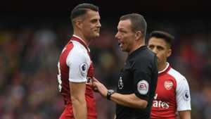 Granit Xhaka Arsenal Kevin Friend referee