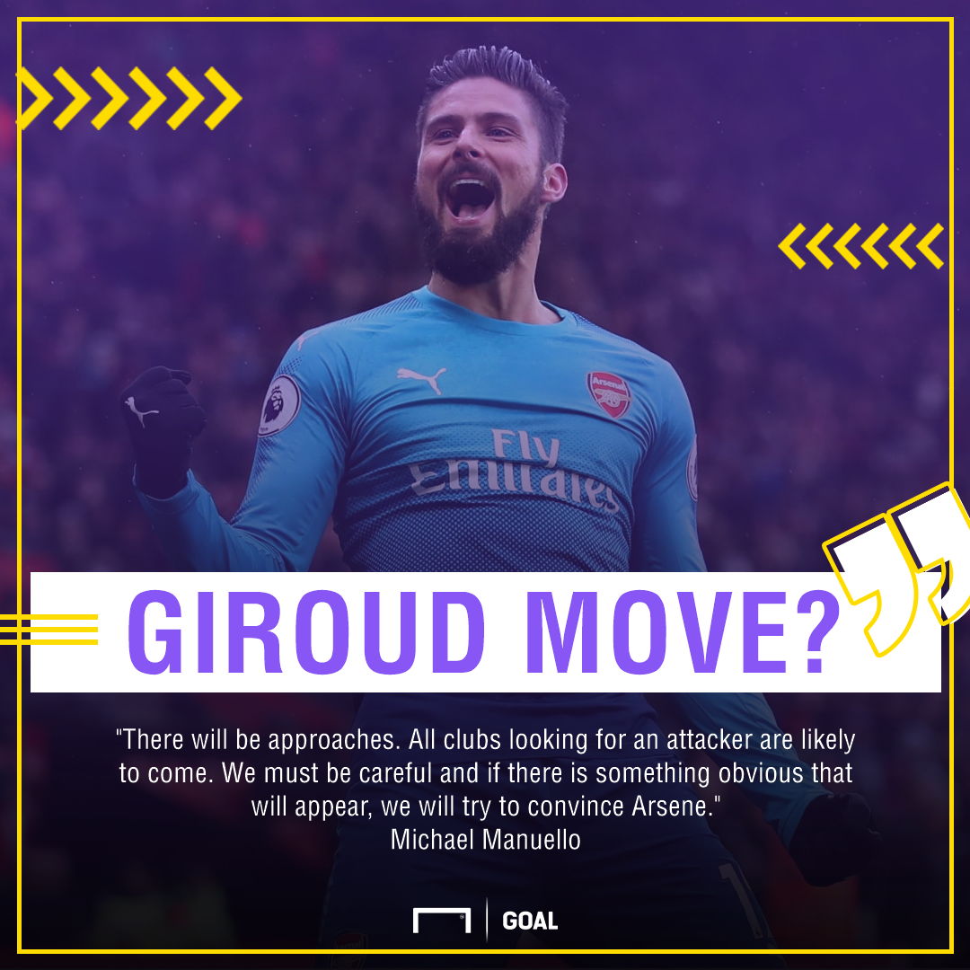 Olivier Giroud Arsenal exit agent January