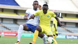 Omar Moussa of Sofapaka in action v Kariobangi Sharks.