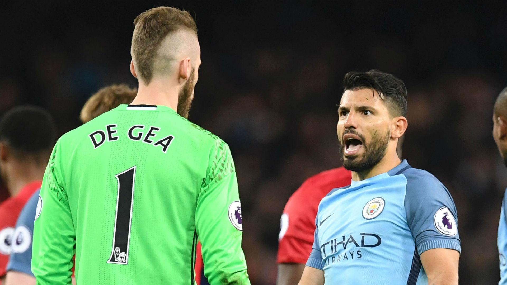 David de Gea Sergio Aguero Manchester United City