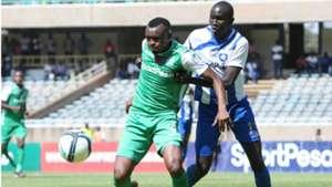 Gor Mahia striker Jaxques Tuyisenge v AFC Leopards.