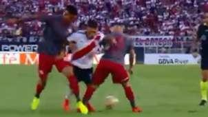 CAPTURA Lesion Juanfer Quintero River Independiente Superliga 17032019