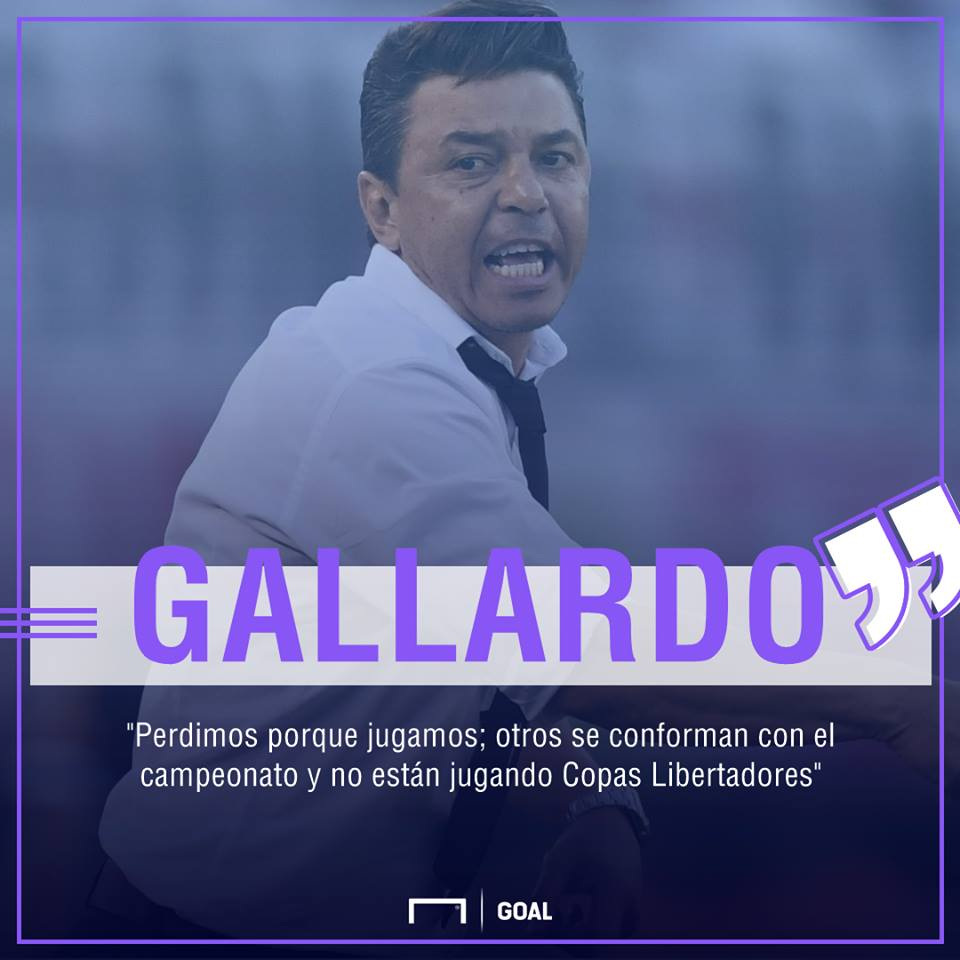 Marcelo Gallardo River Boca Superliga 05112017