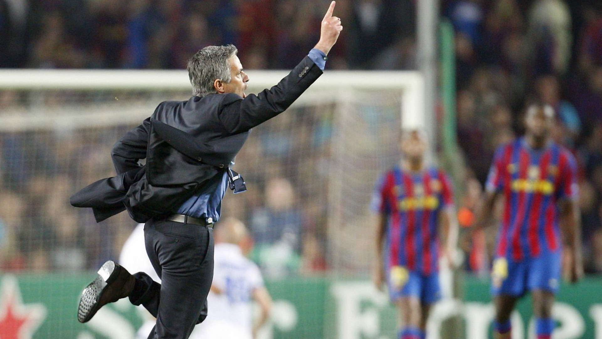 Jose Mourinho Inter Milan Barcelona 2010