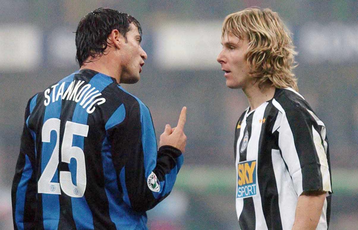 Stankovic Nedved Inter Juventus