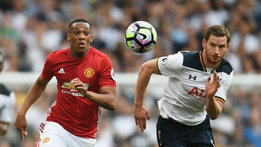 Anthony Martial Manchester United Jan Vertonghen Tottenham