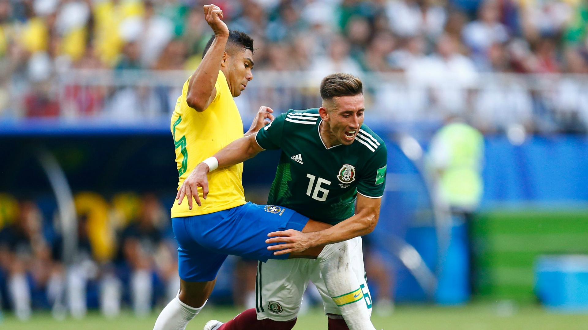 Casemiro Hector Herrera Brazil Mexico FIFA World Cup 2018 07022018