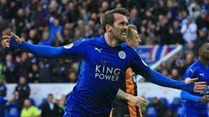 Christian Fuchs Leicester City Hull City 04032017