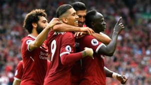 Sadio Mane Roberto Firmino Mohamed Salah Emre Can Liverpool 2017