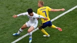 Son Heung-min South Korea Sebastian Larsson Sweden 2018 World Cup