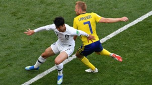 Son Heung-min South Korea Sebastian Larsson Sweden 2018 World Cup