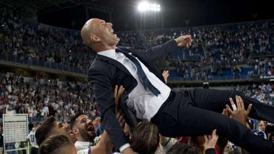 Zinedine Zidane Real Madrid bumps