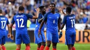 Paul Pogba Kylian Mbappe Ousmane Dembele France