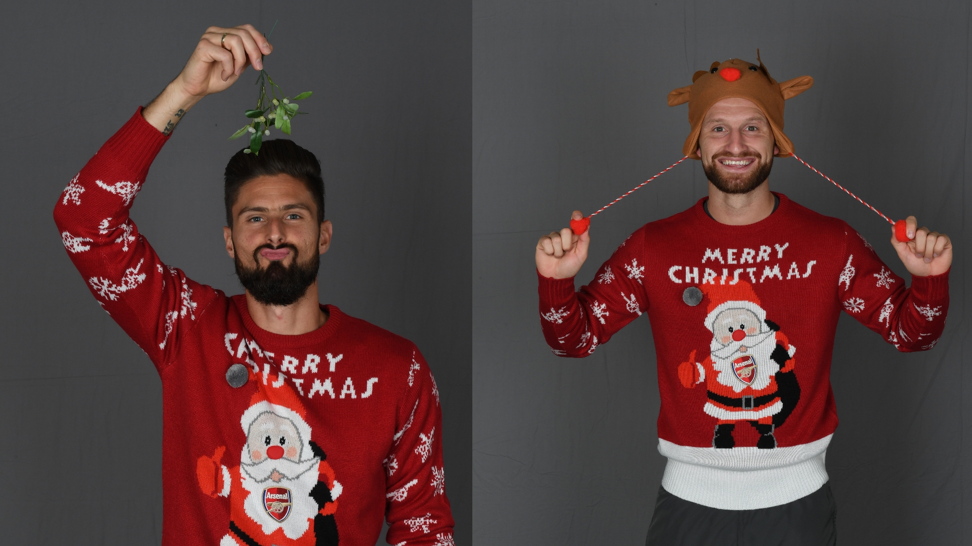 Giroud, Mustafi Christmas Jumpers