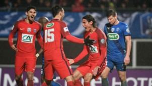Edinson Cavani Niort v PSG
