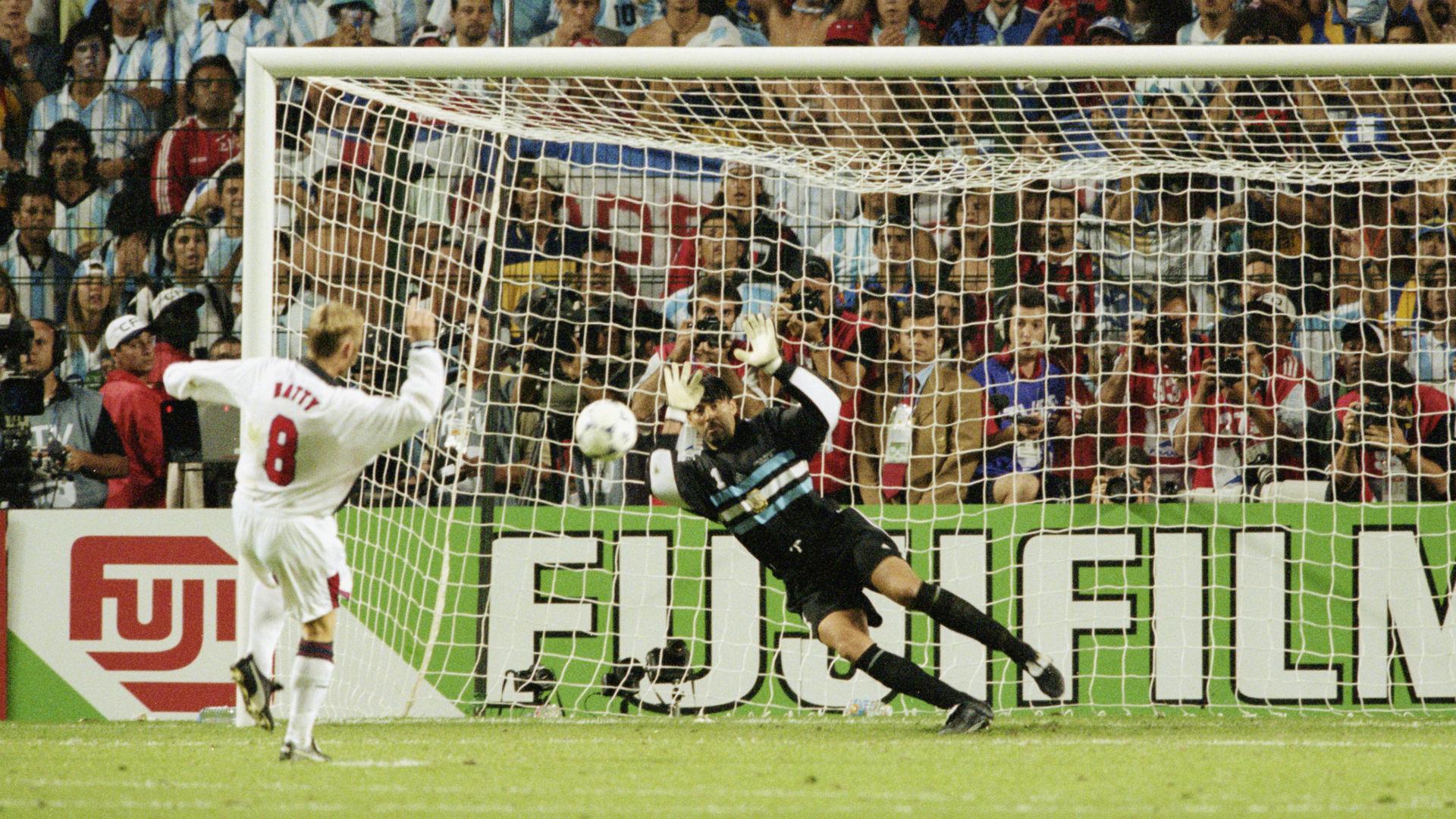 David Batty England Carlos Roa Argentina World Cup 1998