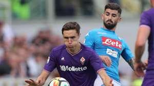 Federico Chiesa Elseid Hysaj Fiorentina Napoli Serie A