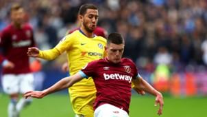 Eden Hazard Chelsea Declan Rice West Ham
