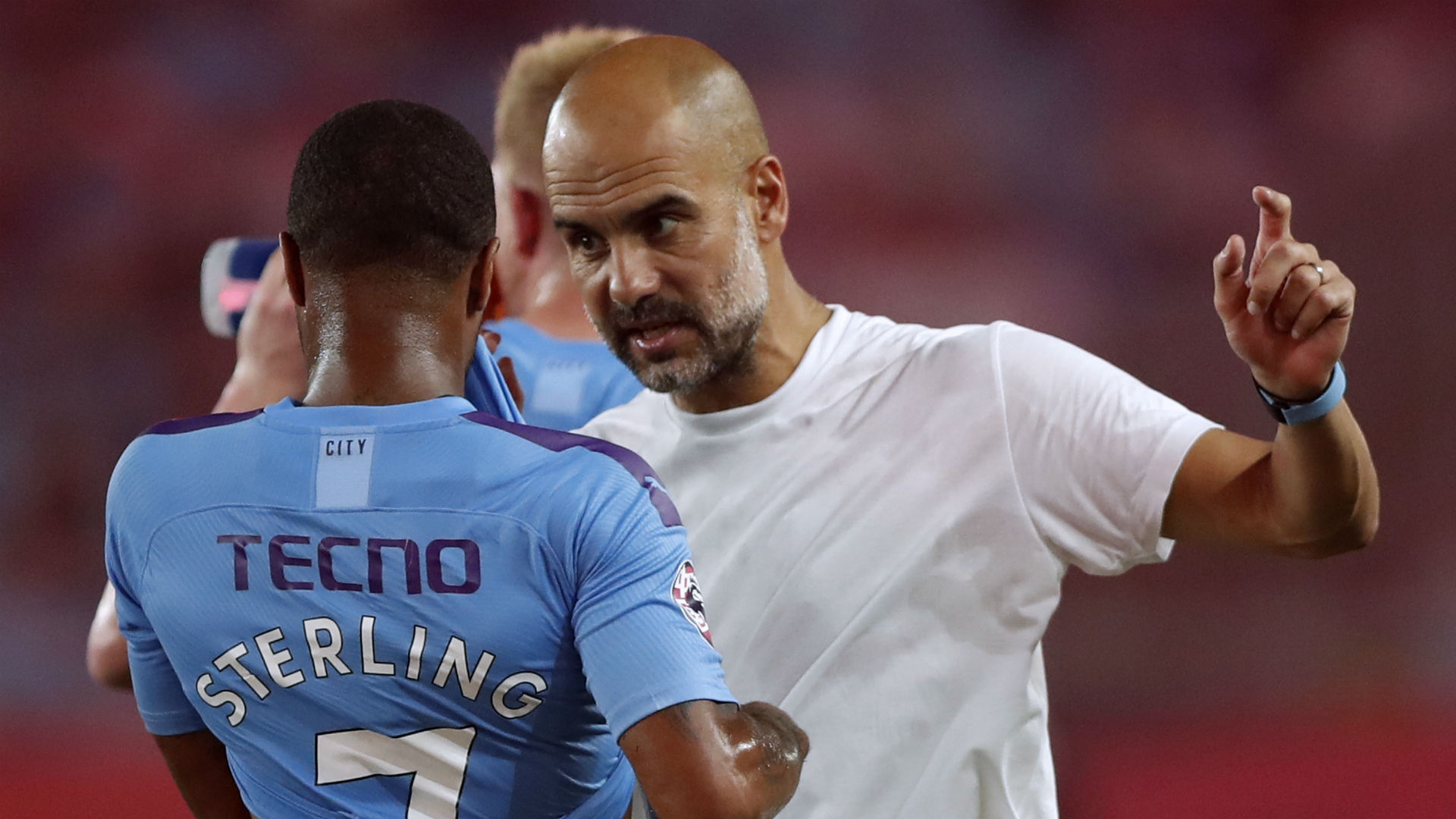 Raheem Sterling Pep Guardiola Manchester City pre-season 2019