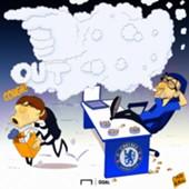 Antonio Conte Maurizio Sarri Chelsea Cartoon