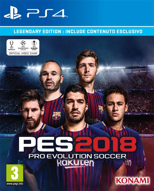 PES 2018 Legendary cover