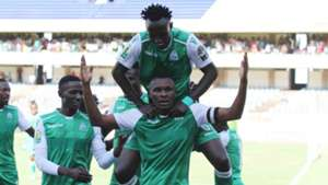 KENNETH MUGUNA, Shafik Batambuze and Jacques Tuyisenge of Gor Mahia.