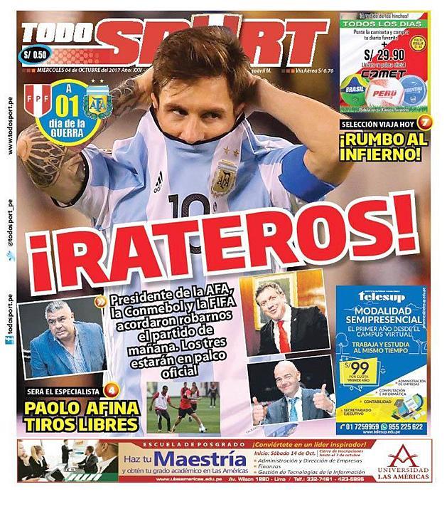 Peru Argentína botrány